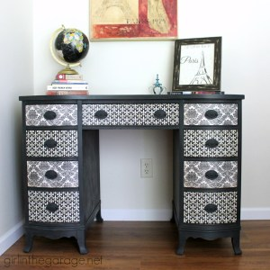 Decoupage Desk with Chalk Paint