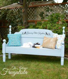 Headboard Garden Bench