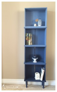 Ombre Bookcase from Dresser Drawers