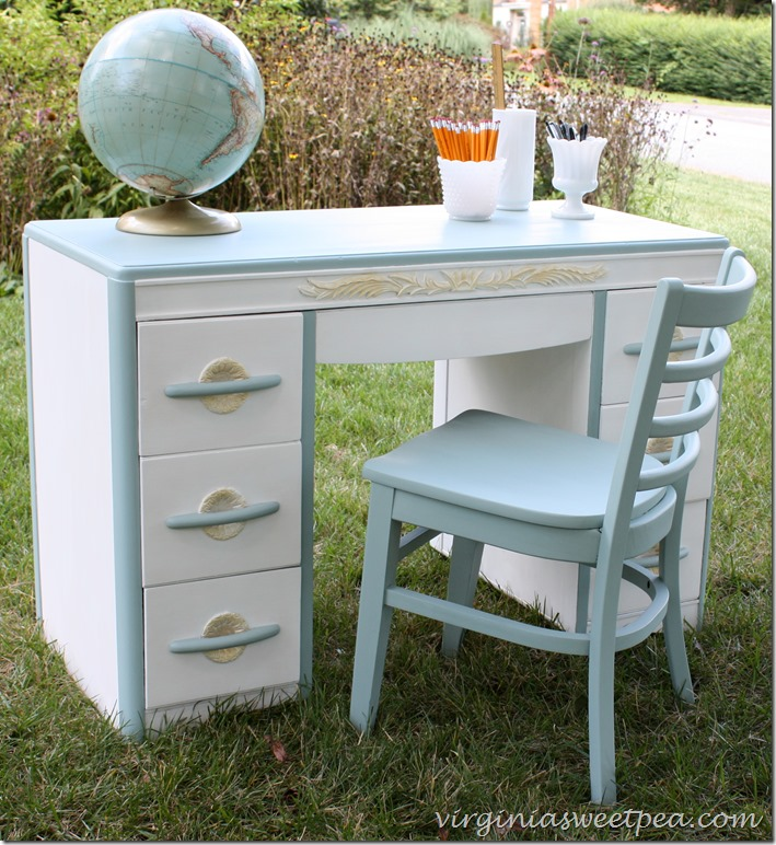 Goodwill Desk Makeover - by Sweet Pea