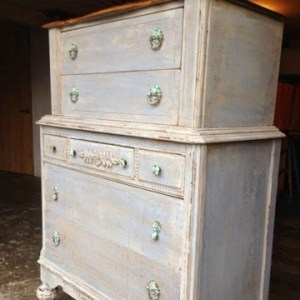Distressed Tall Dresser