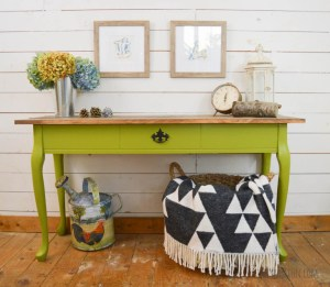 Planked Console Table