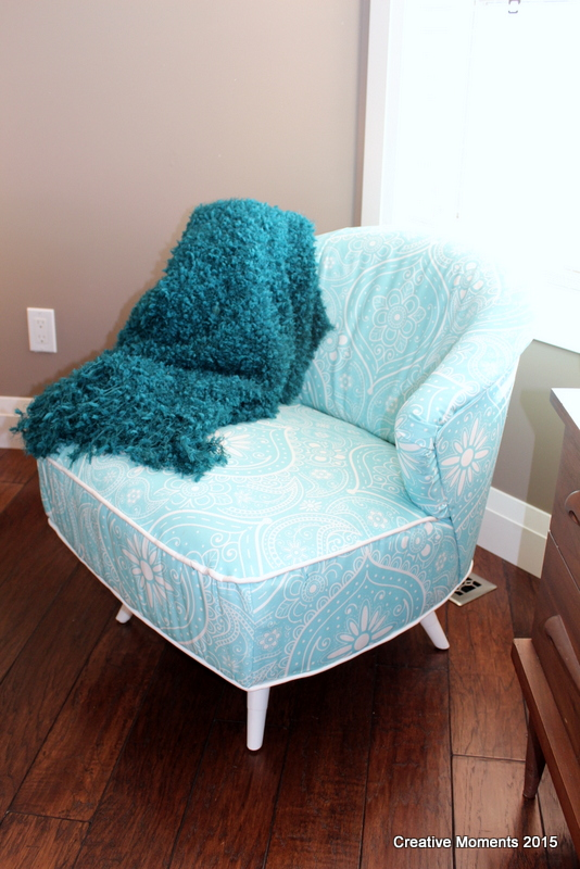 Pretty in Paisley Chair Makeover - by Creative Moments