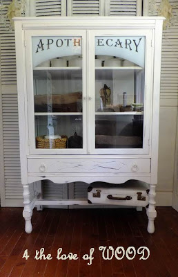 Antique Apothecary Cabinet Makeover - by 4 the love of WOOD