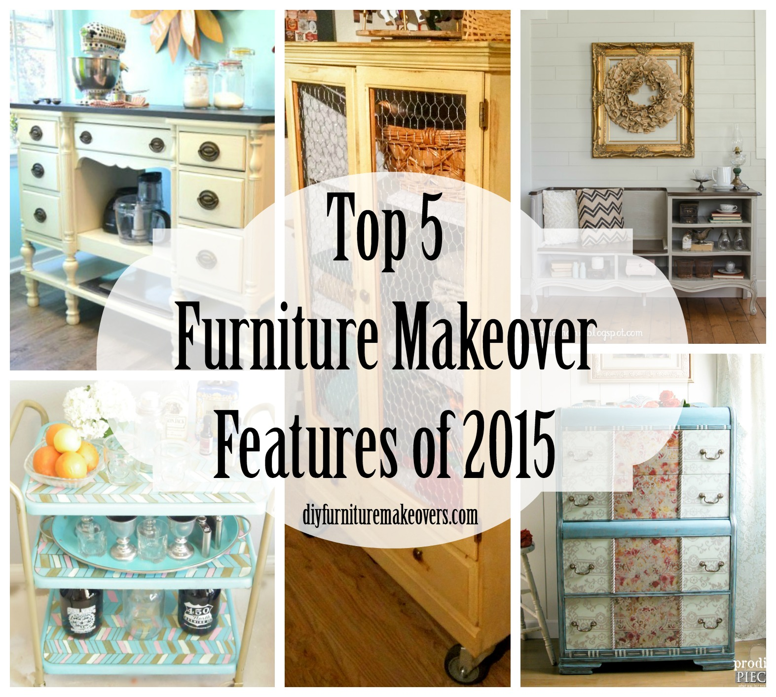 Top 5 Furniture Makeovers of 2015 - DIY Furniture Makeovers