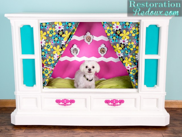 Freebie Tube TV Makeover to Puppy Palace - by Restoration Redoux