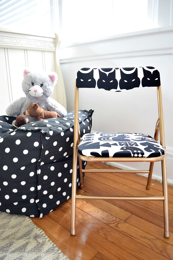Modern Glam DIY Folding Chair Makeover - by Houseologie