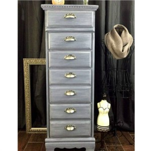 Gray Distressed Chest