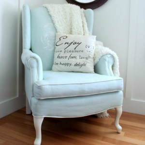 Painted Upholstered Chair
