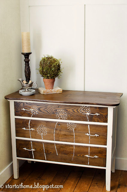 Antique chest makeover, stripped and stained - by Start at Home