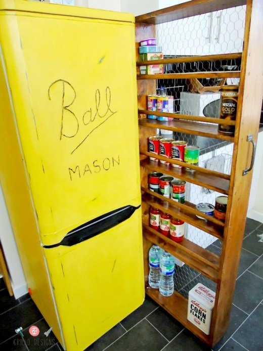 DIY Painted Fridge Makeover - by Grillo Designs