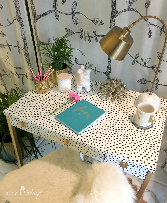 Kate Spade Inspired Desk Makeover - by Design It Vintage