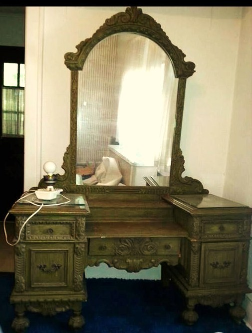 (Before) Ornate Victorian Vanity Makeover - by Painted Restorations