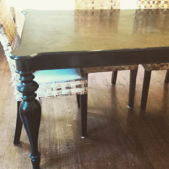 (Before) Farmhouse Facelift - Dining Table Makeover by Sawdust and Spices