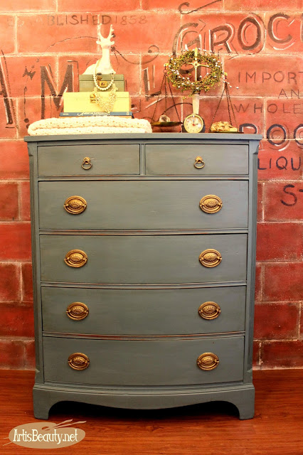 Beast to Beauty: Vintage Dresser Makeover by Art is Beauty