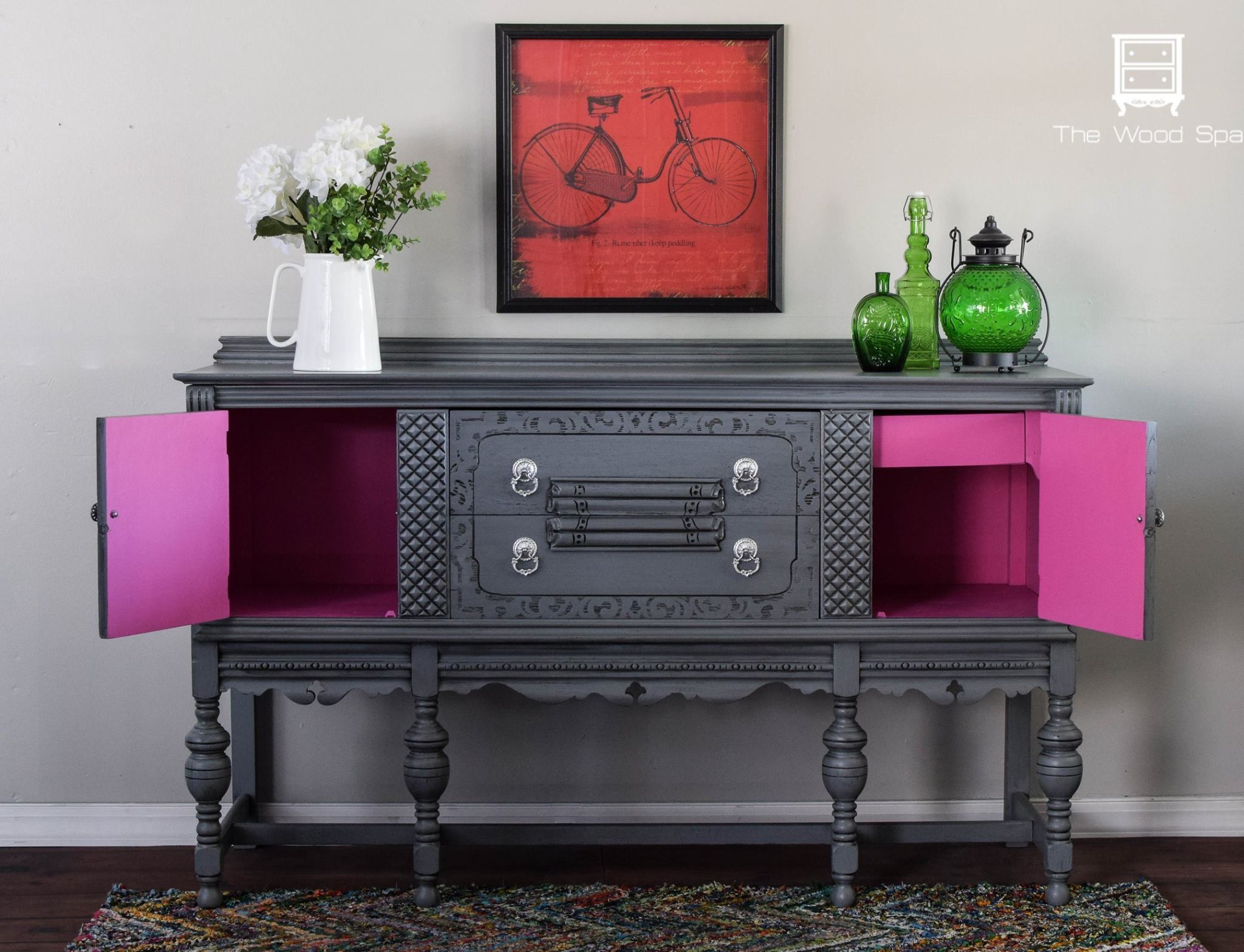 Powerful Punch of Pink: Buffet Makeover by The Wood Spa