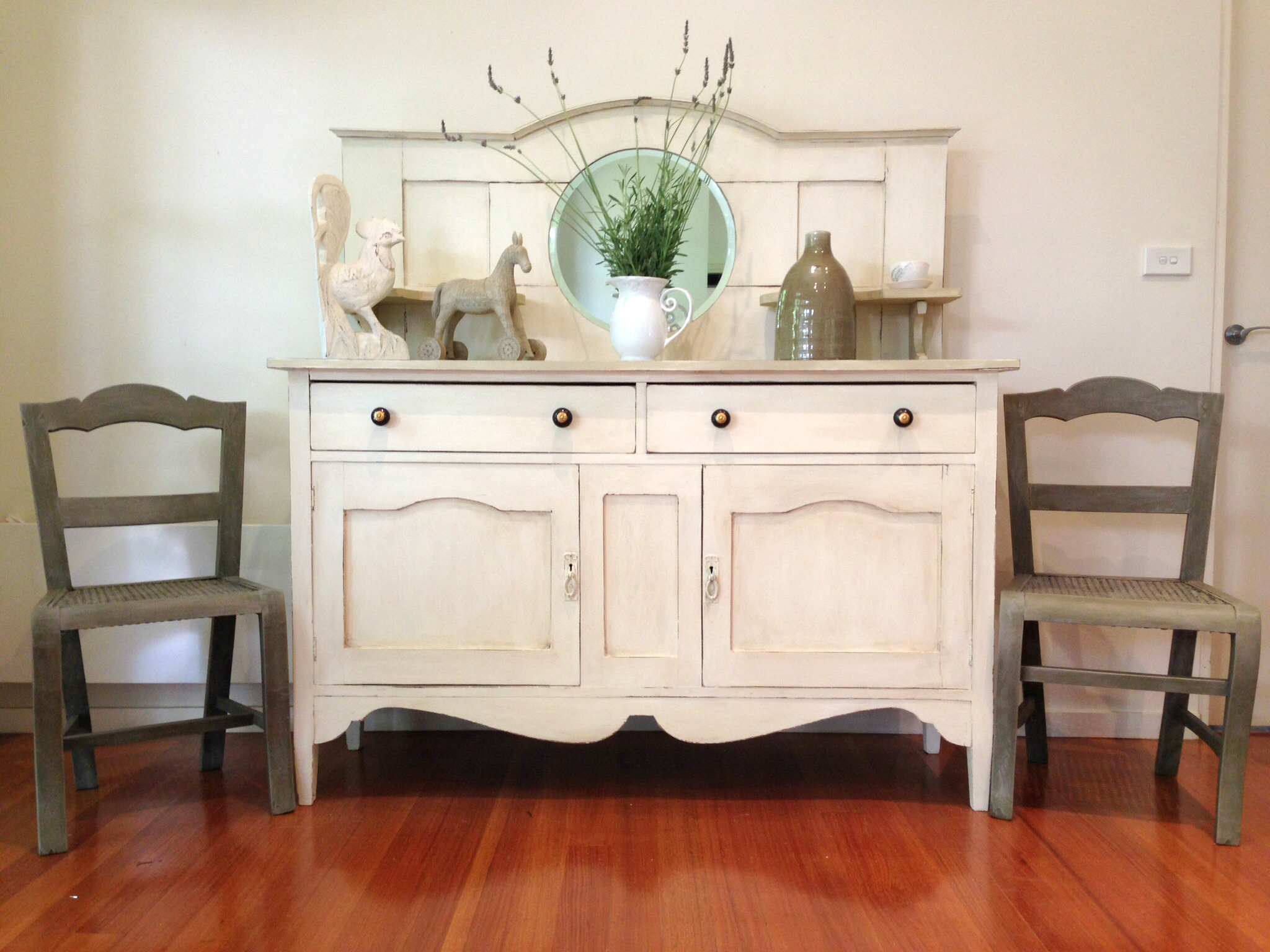 Antique sideboard makeover in Chalk Paint - by Rusty Blue Refashioned Furniture