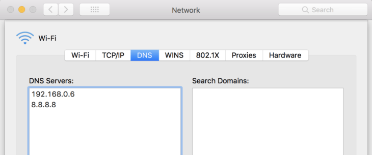 Client DNS Settings for my LAN