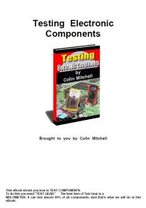 Testing Electronic Components - Colin Mitchell Ebook