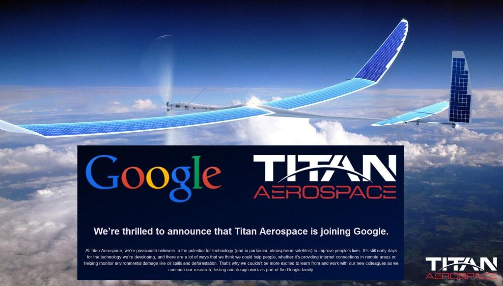 google titan drones
