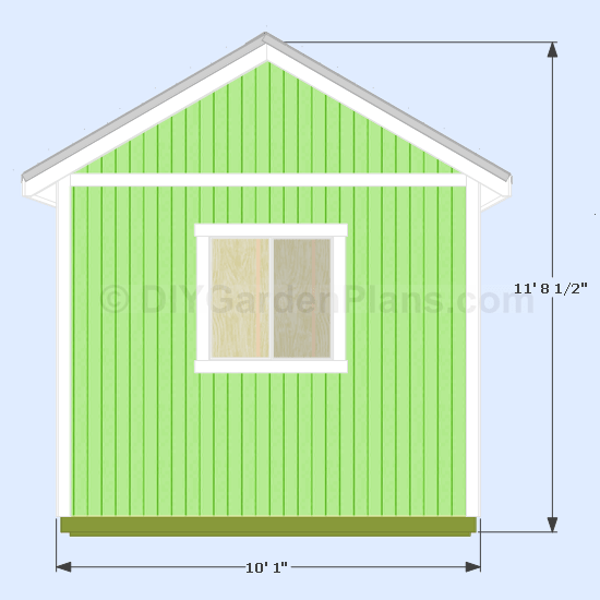 12 215 10 Gable Shed Plans Diygardenplans