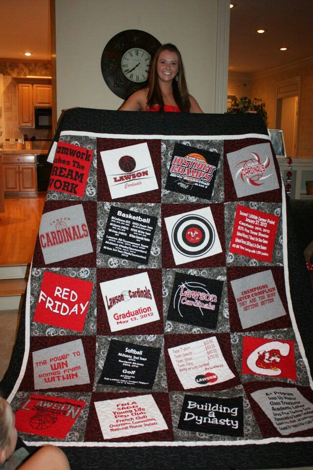 DIY High School Spirit Quilt