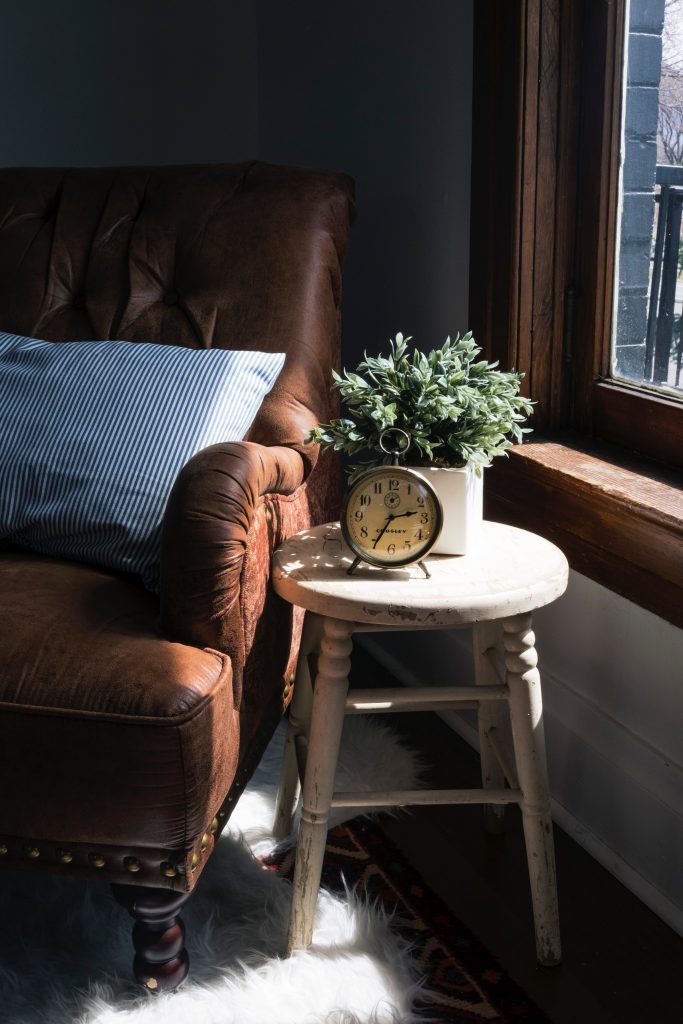 decorate a side table in a living room