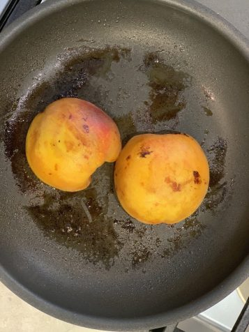 bourbon peach recipe saute pan