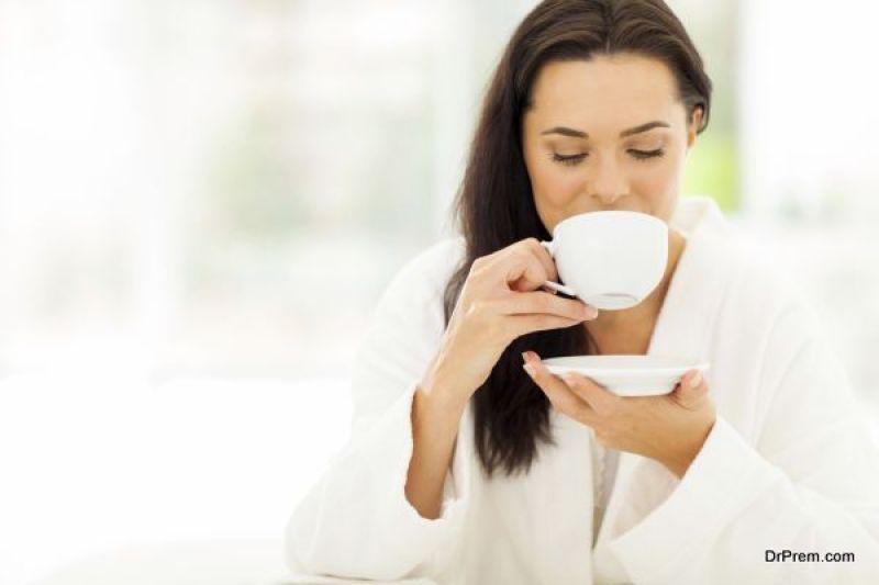 consuming tea