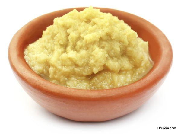 Mashed ginger