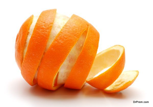 Rind  of orange cutaway in spiral shape