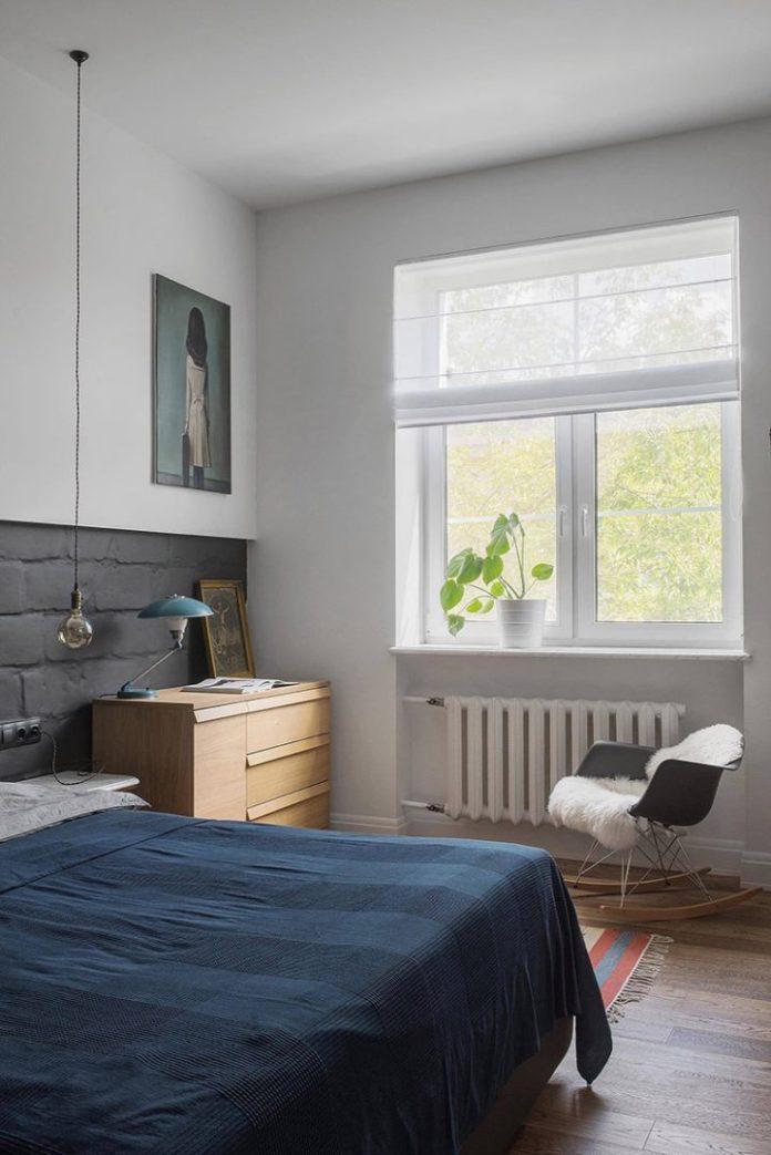 Apartamento urbano/industrial com quarto de casal