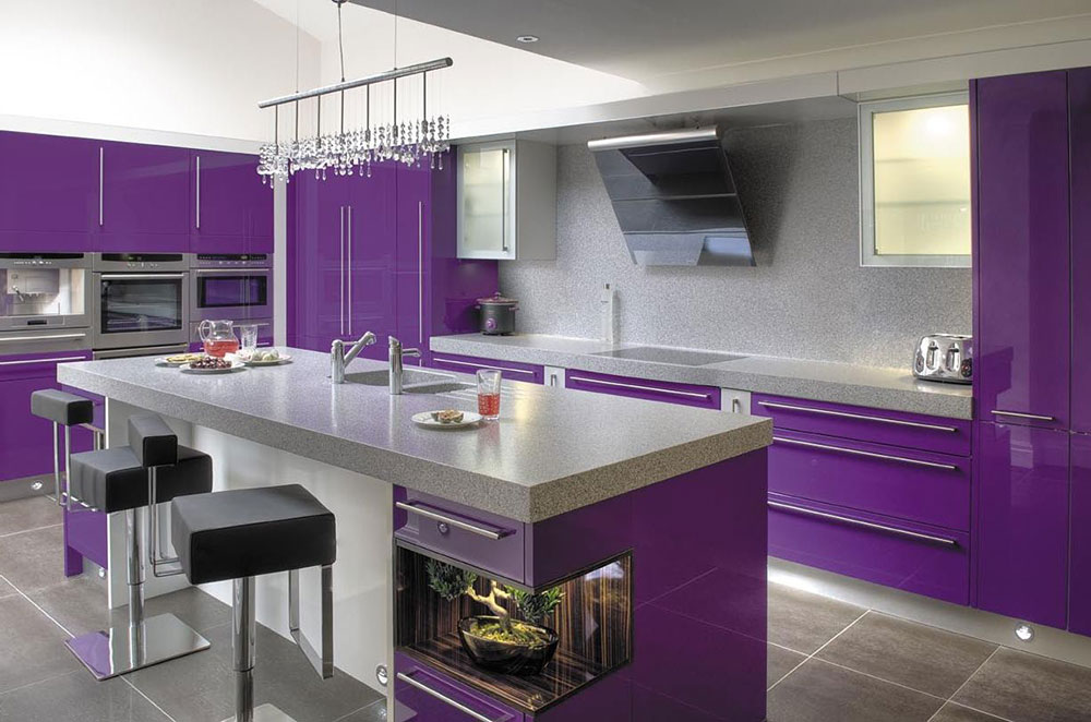 purple kitchen ideas for unique and modern look diy home art. Black Bedroom Furniture Sets. Home Design Ideas