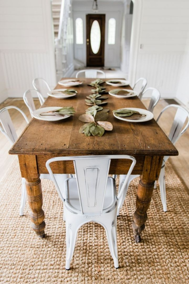 47 Farmhouse Dining Table Ideas for Cozy, Rustic Look ...