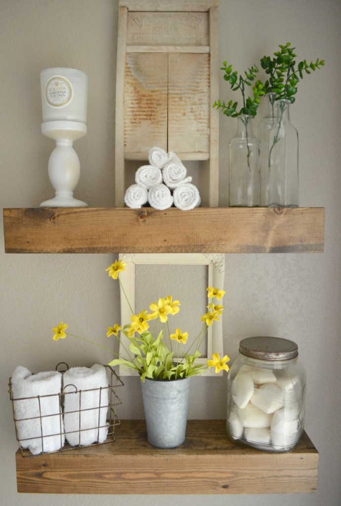 53 Ideas for Vintage and Modern Farmhouse Bathroom Decor ... on Farmhouse Bathroom Ideas  id=84441