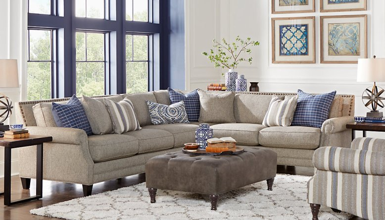 Awesome furniture ideas for your sectional sofa living - Sectionals for small rooms ...