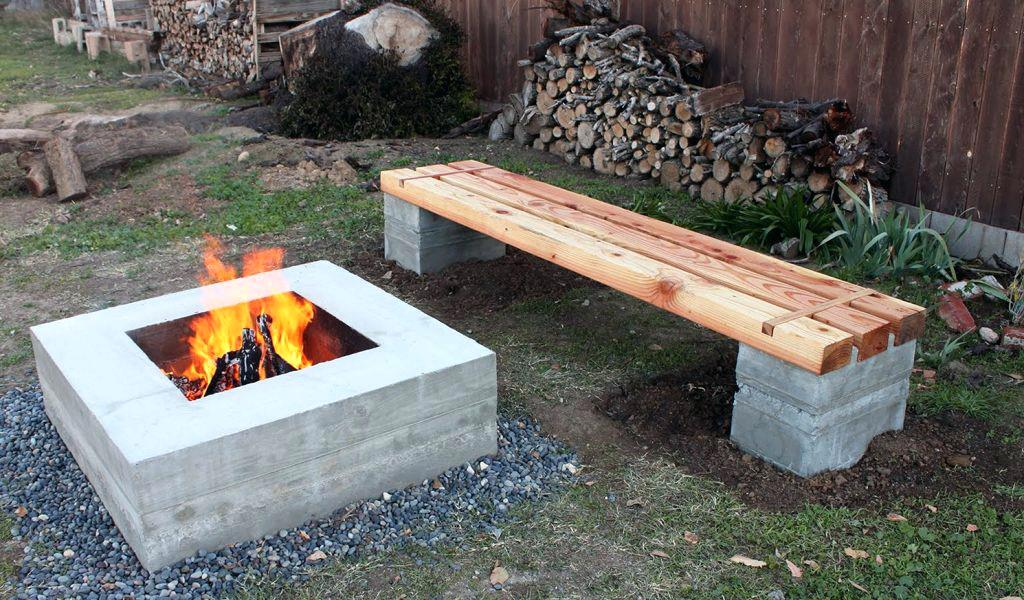 30 DIY Indoor and Outdoor Fire Pit Ideas - DIY Home Art on Cinder Block Fireplace Diy  id=86933