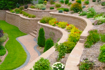 Landscape Design Ideas For Sloped Front Yard on Wall Ideas For Yard id=99820