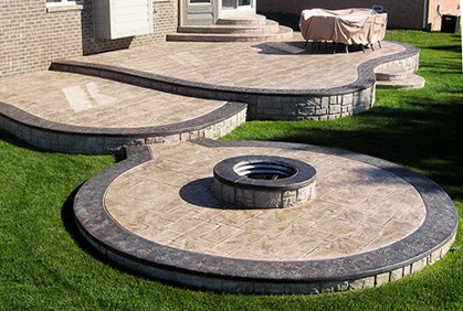 Stamped Concrete Patio Designs Ideas and Pictures on Simple Concrete Patio Designs id=37225