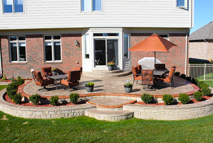 Stamped Concrete Patio Designs Ideas and Pictures on Simple Concrete Patio Designs id=86622