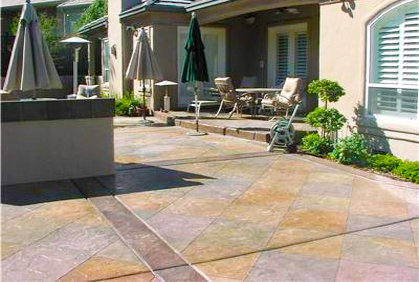 Concrete Patio Designs Ideas Pictures and 2018 Plans on Backyard Concrete Patio Designs  id=80936