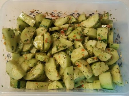 sweet basil cucumber salad