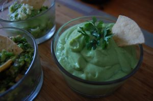 the homogeneous mix of guacamole
