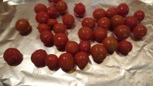 easy way to peel cherry tomatoes