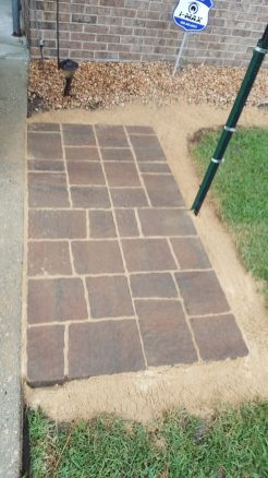 Grilling Area with patio pavers