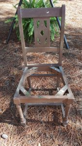 upcycle a broken chair into a planter