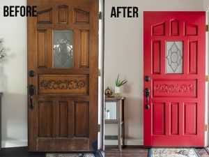 diy paint front door.