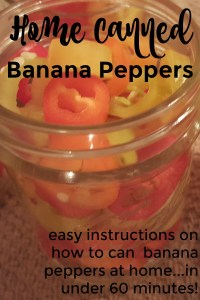 hone canned banana peppers