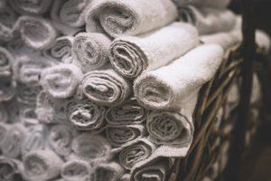 basket bath bath towels bathroom