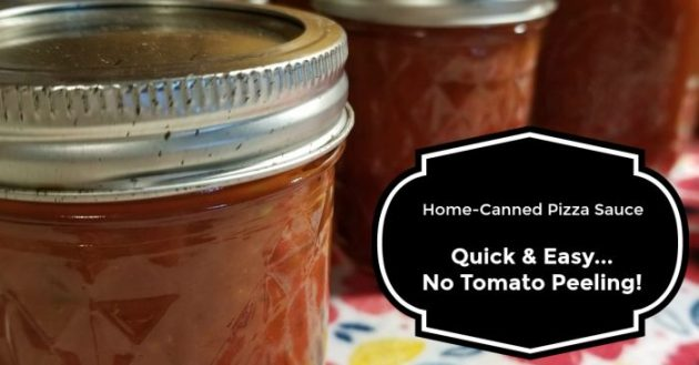home canned pizza sauce